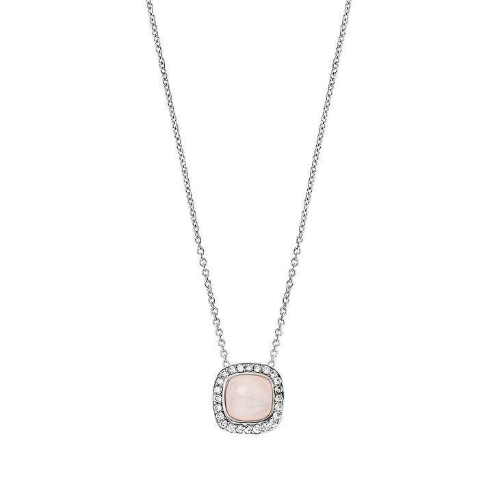 Kette, BELORO, Necklace Diamond Moonstone Peach 14k White Gold