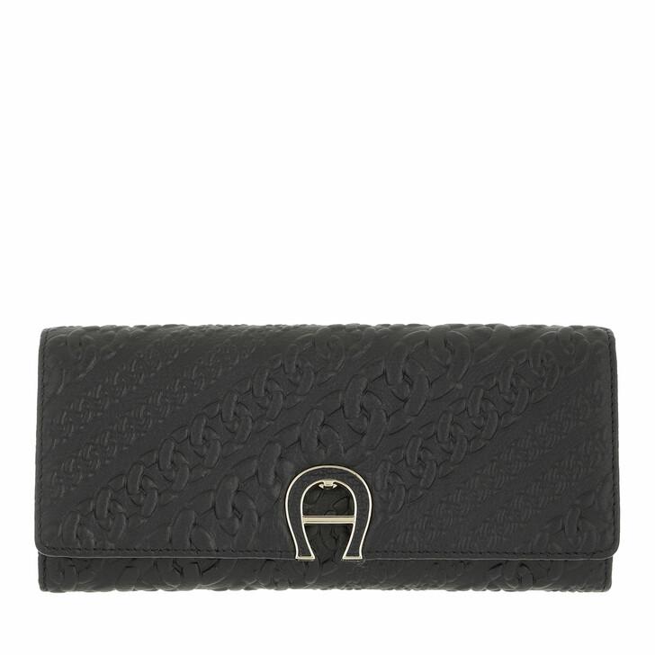 wallets, AIGNER, Catena Wallet Black