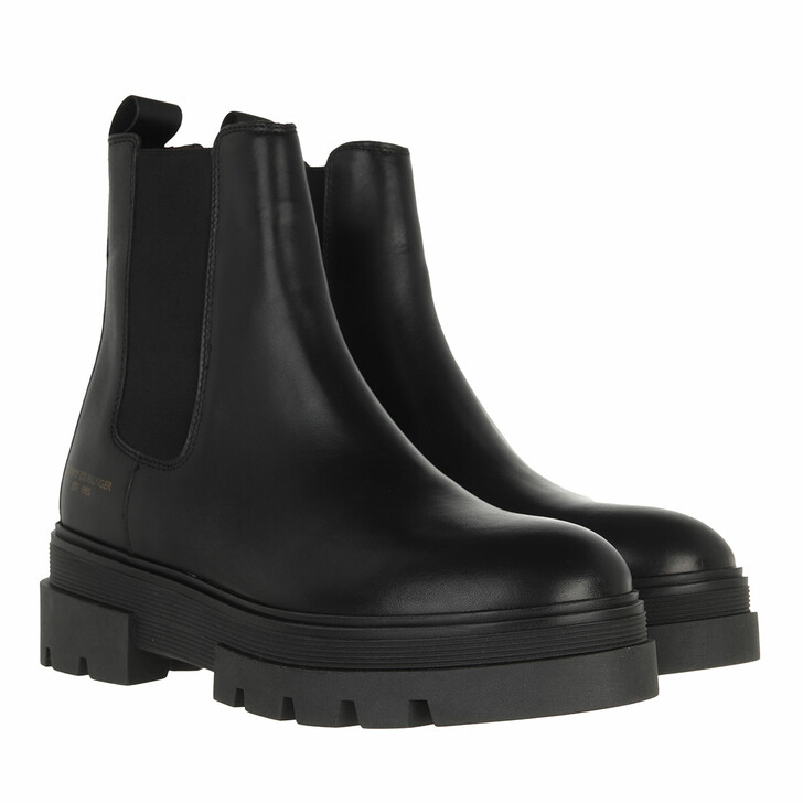 shoes, Tommy Hilfiger, Monochromatic Chelsea Boot Black