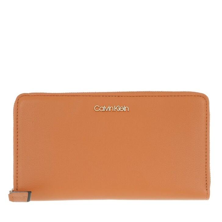 Geldbörse, Calvin Klein, Zip Around Wallet Cognac