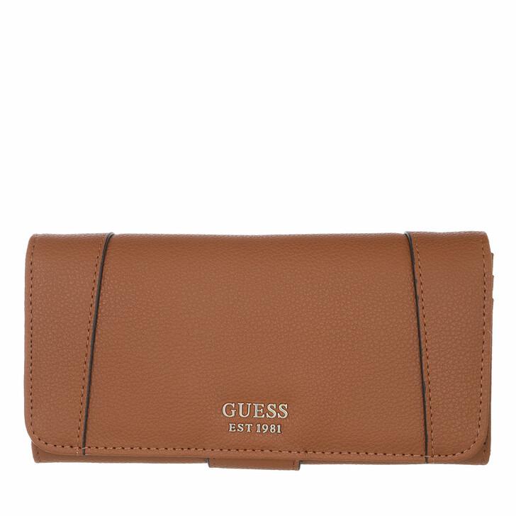 Handtasche, Guess, Naya File Wallet Cognac