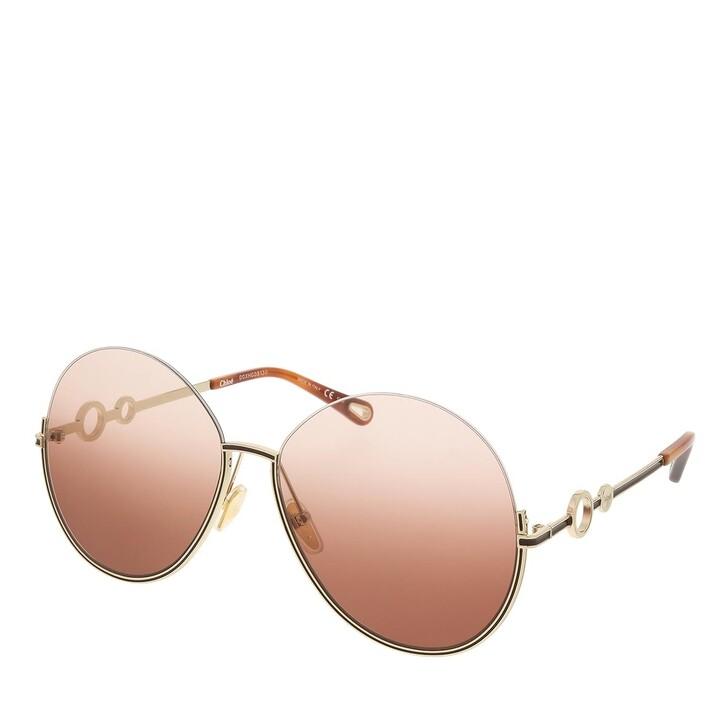sunglasses, Chloé, CH0067S-002 61 Sunglass Woman Metal Gold-Gold-Orange