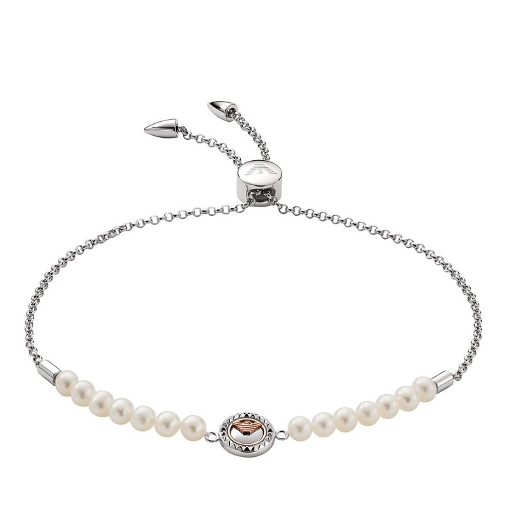 Armreif, Emporio Armani, Sterling Silver and Cultured Freshwater Pearl Slid Silver