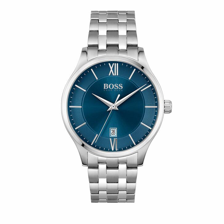 watches, Boss, Watch Elite Silver Blue