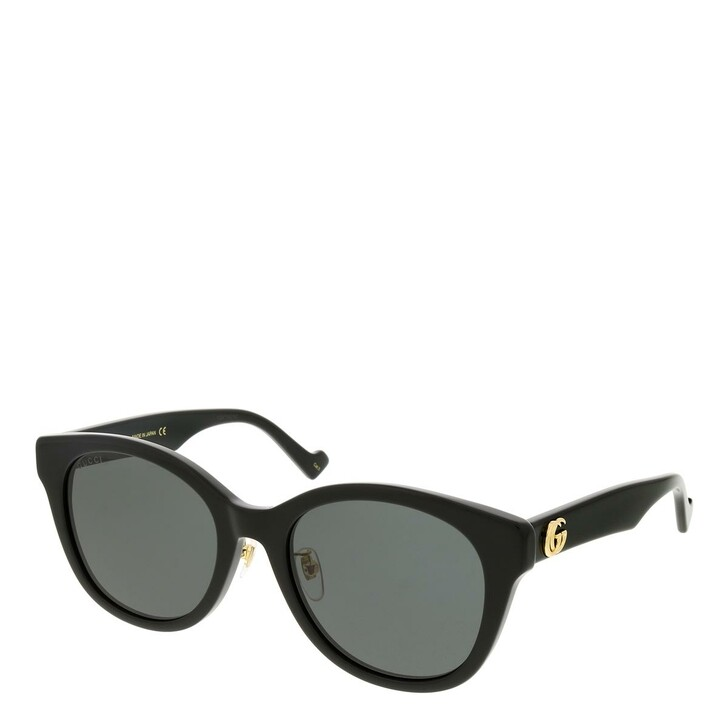 sunglasses, Gucci, GG1002SK-001 56 Sunglass Woman Acetate Black-Black-Grey