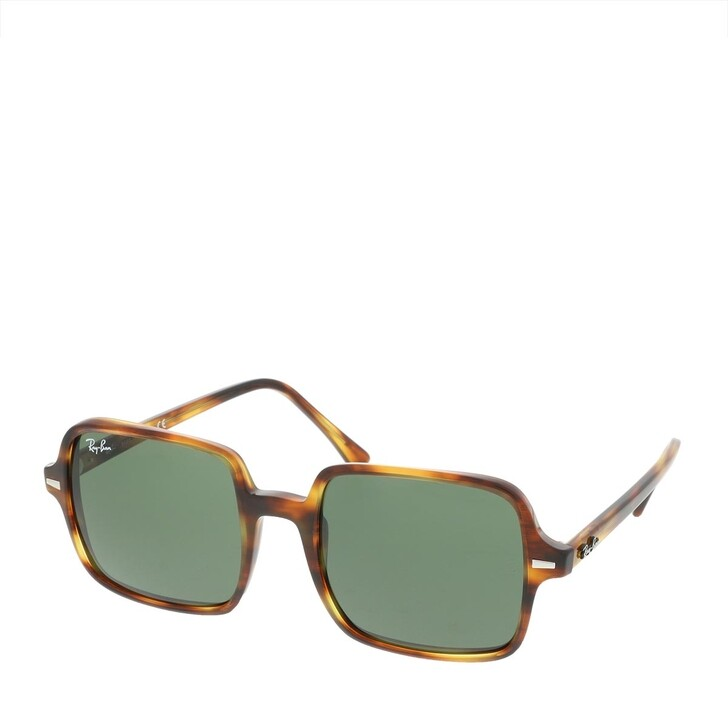 Sonnenbrille, Ray-Ban, Square II Stripped Havana