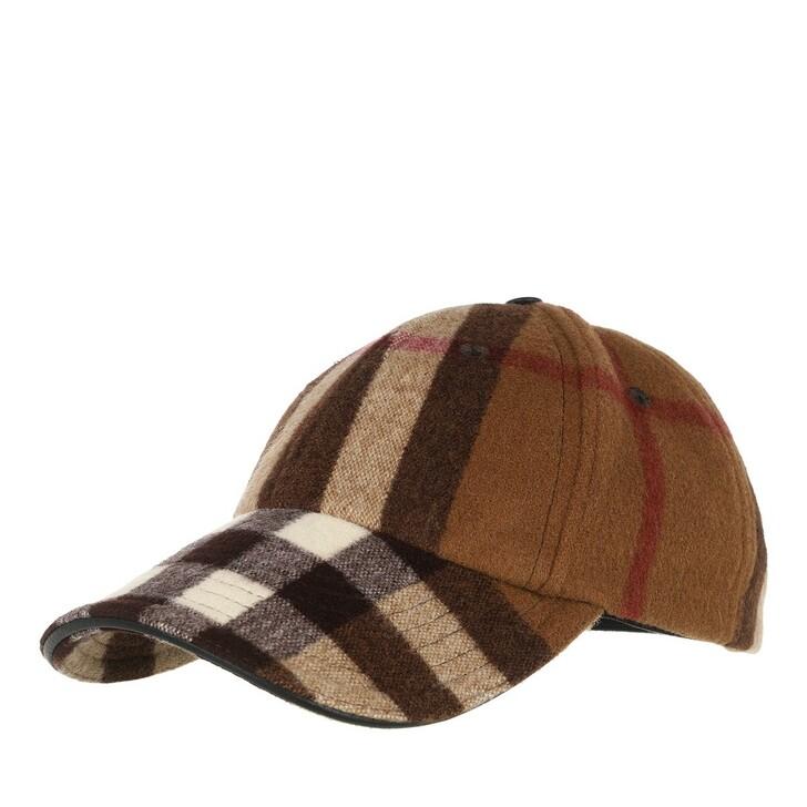 Mütze, Burberry, Trim Check Baseball Cap Birch Brown