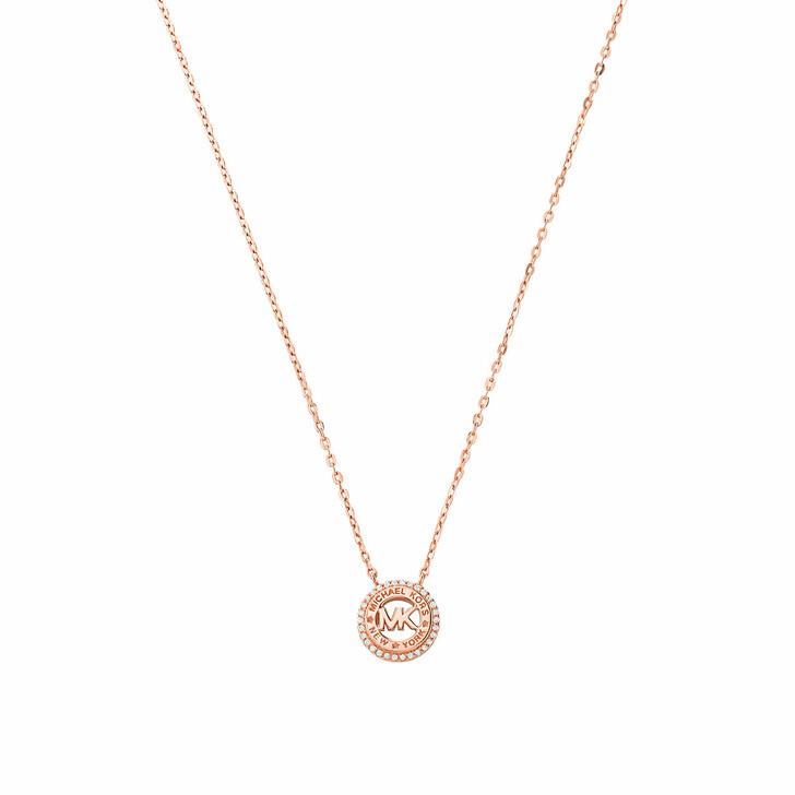 Kette, Michael Kors, 14k Gold-Plated Dainty Logo Pendant Necklace Rose Gold-Tone