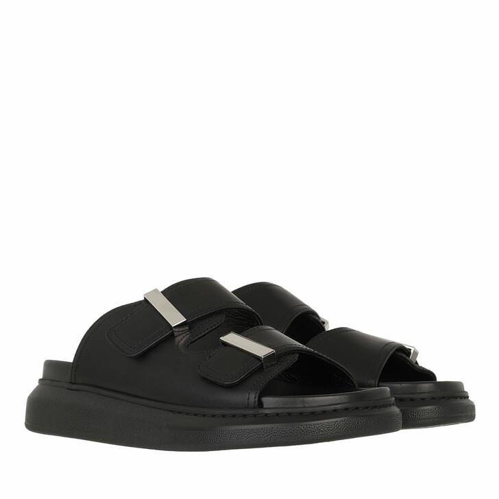 Schuh, Alexander McQueen, Hybrid Mule Sandals Leather Black