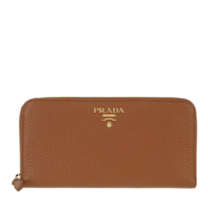 Geldbörse, Prada, Zip Around Wallet Cognac