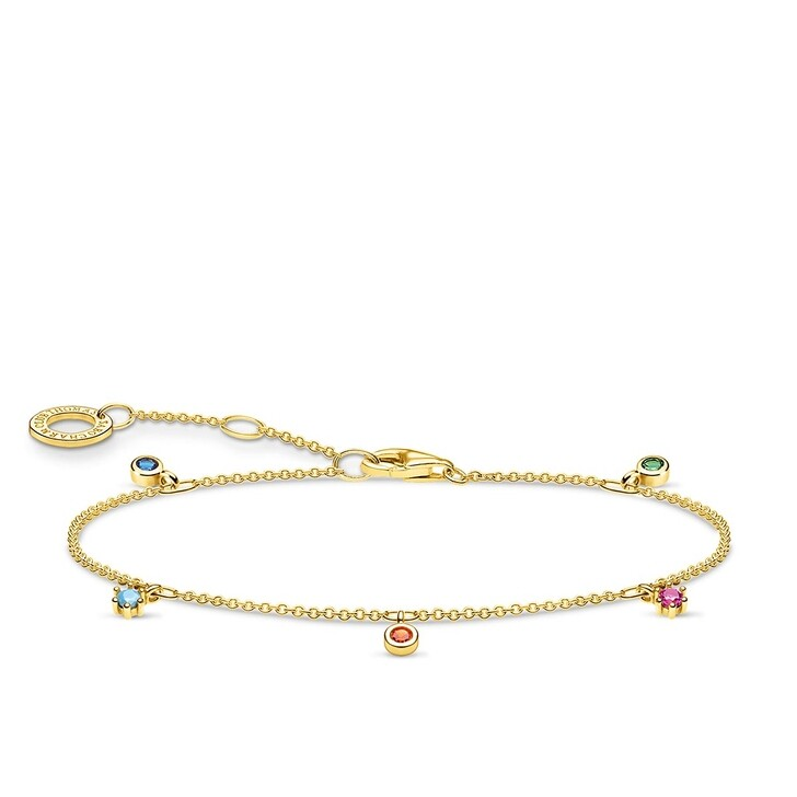 Armreif, Thomas Sabo, Bracelet Colored Stones Bicolor