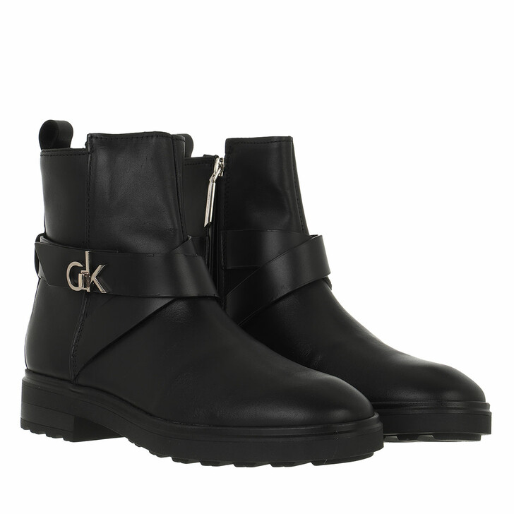 shoes, Calvin Klein, Cleat Riding Boot CK Black