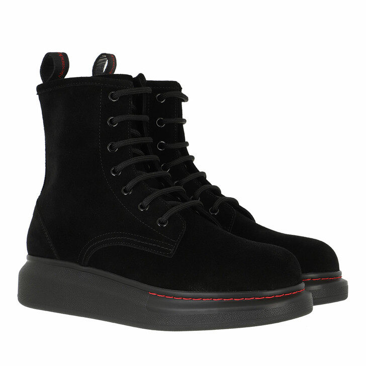 shoes, Alexander McQueen, Boots Leather Black