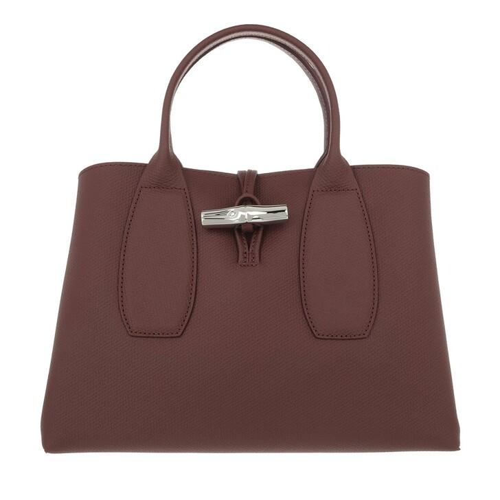 bags, Longchamp, Roseau Handbag  Bordeaux
