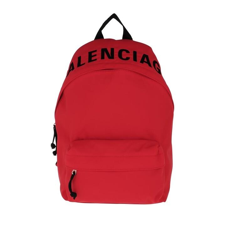 Reisetasche, Balenciaga, Wheel Backpack Bright Red/Black