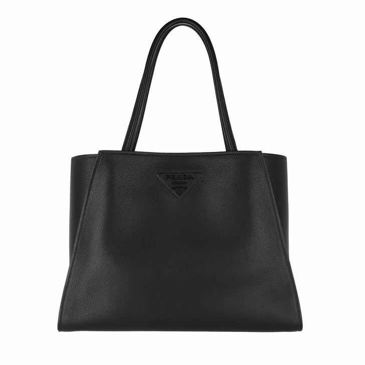 Handtasche, Prada, Logo Embellished Tote Bag Leather Black