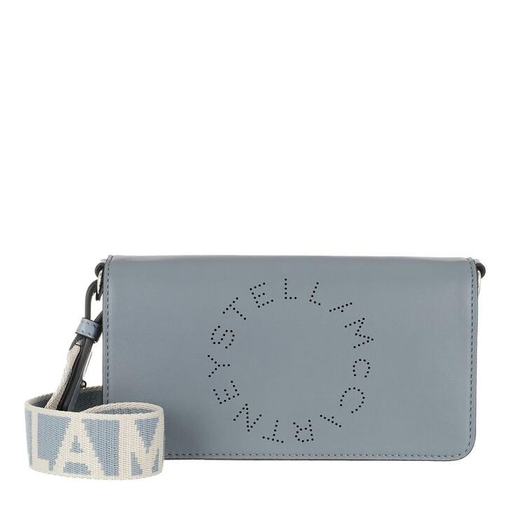 Handtasche, Stella McCartney, Mini Crossbody Bag Eco Soft Alter Leather Cameo Blu