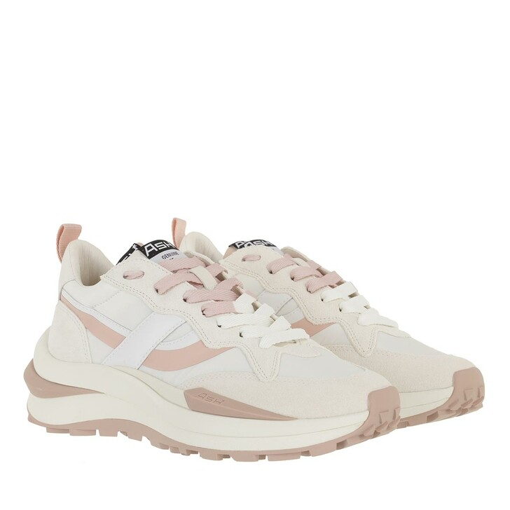 Schuh, Ash, Spider Sneaker Suede  White/Pinksalt