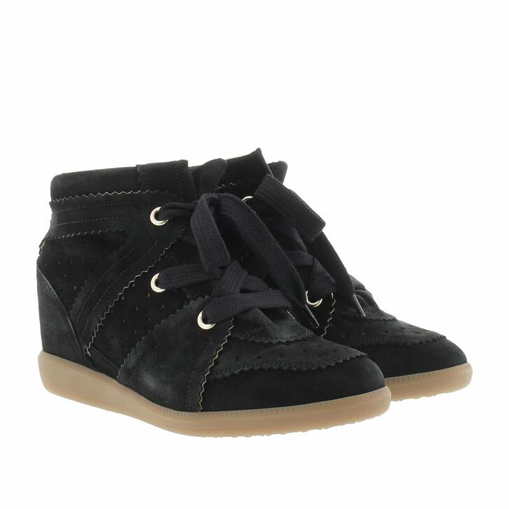 Schuh, Isabel Marant, Bobby Sneaker Velvet Stainer Basket Faded Black