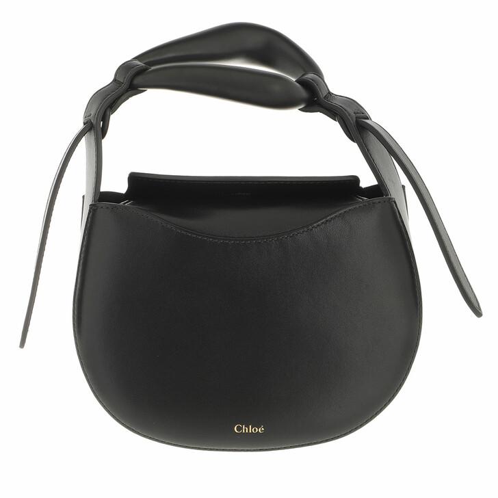 bags, Chloé, Small Kiss Handle Bag Black