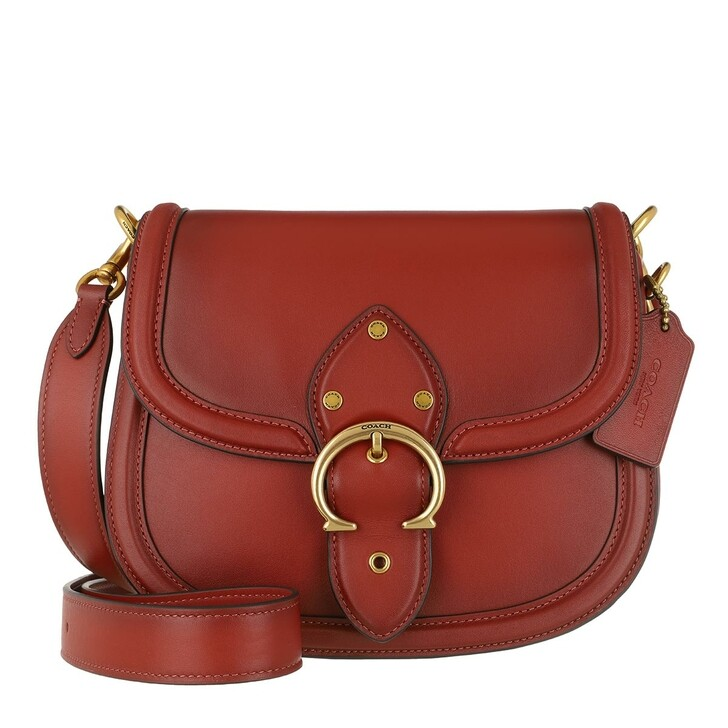 Handtasche, Coach, Glovetanned Leather Beat Saddle Bag Red Sand
