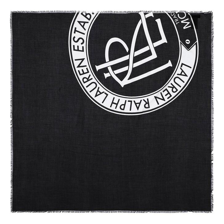 scarves, Lauren Ralph Lauren, Aria Scarf Square Black